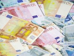 Banconote, Euro, denaro