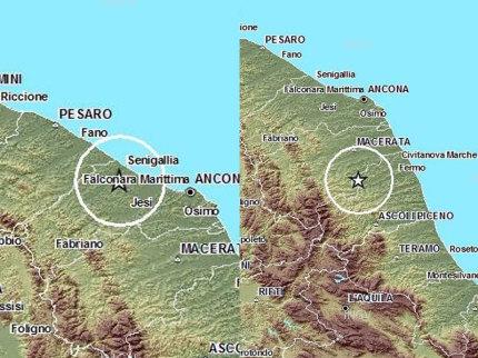 Scosse di terremoto a Senigallia e Monte Vidon Corrado