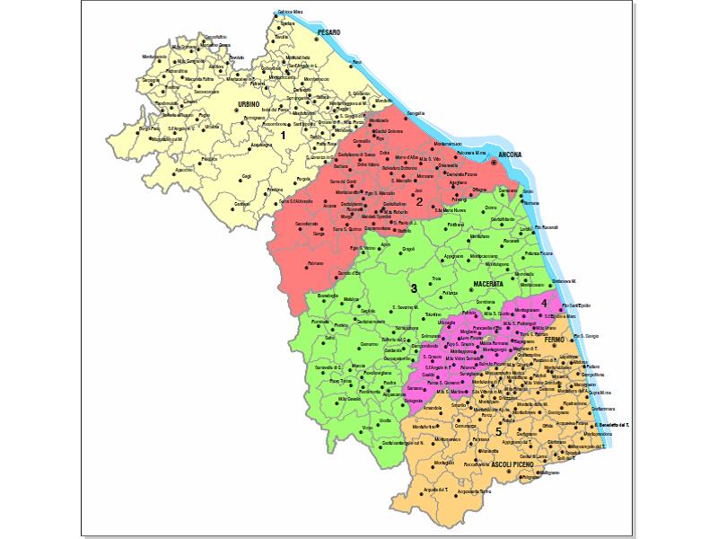 Province Marche Cartina.Marche Prima Riunione Per Il Riordino Delle Province Marche Notizie