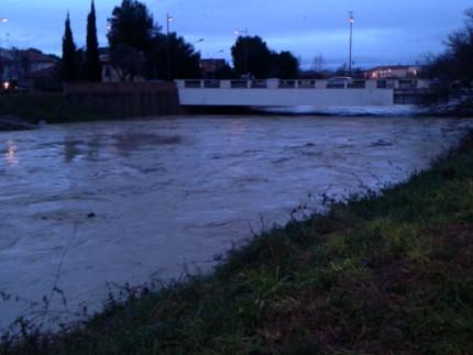 Il fiume Misa a Senigallia (zona ponte Portone). Foto M.Mariselli.