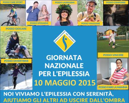 Locandina per l'edizione 2015 della Giornata nazionale per l'Epilessia