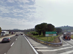 Autostrada A-14, uscita di Ancona Nord