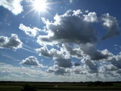 nuvole e sole, meteo, ozono