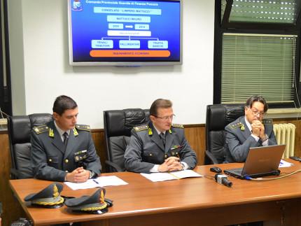 Conferenza stampa della Gdf di Pescara