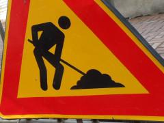 Lavori stradali, cartello