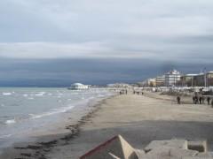 Il mare e la spiaggia di Senigallia durante l'inverno
