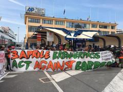 Partenza della #overthefortress March da Ancona