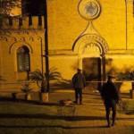 Fermo, ordigno davanti all'abbazia di San Marco alle Paludi