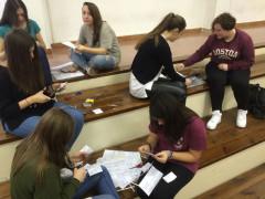 I laboratori con i giovani studenti dell'istituto Corinaldesi di Senigallia