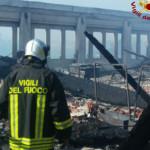 Incendio a Pesaro