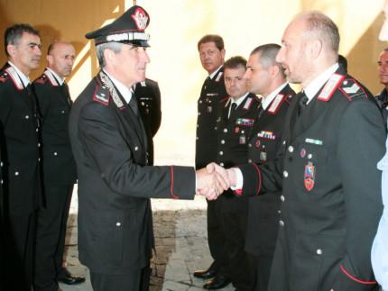 Salvatore Favarolo in visita ai Carabinieri di Senigallia
