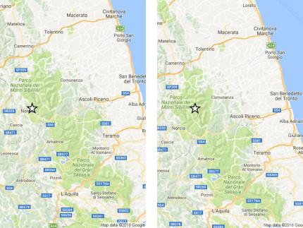 I due terremoti avvertiti dalla popolazione il 3 settembre 2016