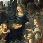 """La """"Vergine delle rocce"""", capolavoro assoluto di Leonardo Da Vinci conservata al Louvre di Parigi"""
