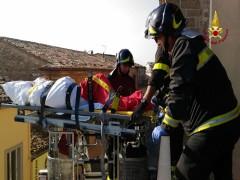 Evacuazione ospizio a Maiolati