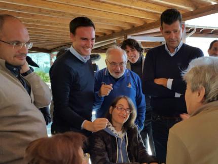 Il neo presidente dell'Anci Antonio Decaro in visita nelle zone terremotate