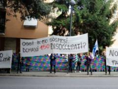 Protesta dipendenti Tombolini