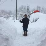 Spalatore di neve ad Amandola