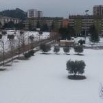 La zona di Monticelli ad Ascoli Piceno durante le nevicate di gennaio 2017