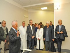 Inaugurazione all'ospedale di Torrette