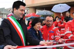 L'inaugurazione con taglio del nastro dell'ambulanza della Croce Rossa Italiana di Monteprandone