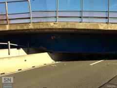 Il cavalcavia crollato sull'A14