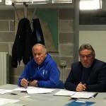 Vincenzo Garino, delegato CONI Marche per Fermo e provincia e Secchi, componente di giunta