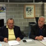 Giuseppe Illuminati, delegato CONI Marche per Macerata e provincia e Paolo Paolozzi per la provincia di Ancona