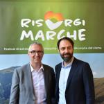 Neri Marcorè e Luca Ceriscioli presentano il festival RisorgiMarche
