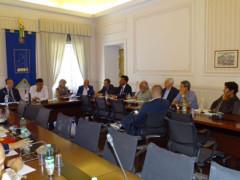 Prima riunione Anci sulla ricostruzione post-sisma coordinata dal sindaco Gianluca Pasqui