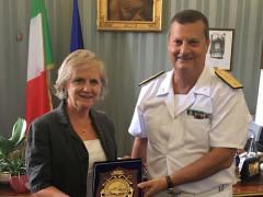 Il contrammiraglio Francesco Saverio Ferrara ha incontrato il prefetto di Ascoli Rita Stentella