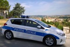 Auto della Polizia Locale a Castelleone di Suasa