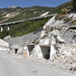 Pescara Del Tronto - strada di accesso al paese - 02-08-2017