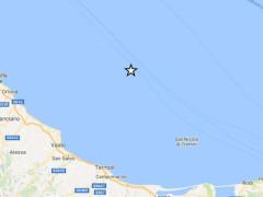 Un terremoto si è verificato nel mar Adriatico, al largo della costa abruzzese martedì 8 agosto 2017