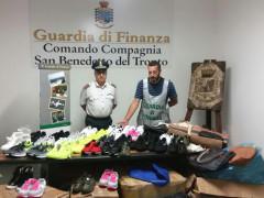 San Benedetto del Tronto: sequestrati oltre 600 articoli contraffatti da parte delle fiamme gialle