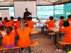 """Un momento del campo scuola """"Anch'io sono la Protezione Civile"""" a San Benedetto del Tronto"""