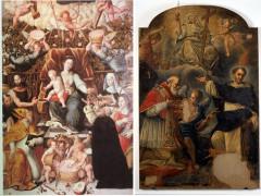 Madonna del Rosario di Ernst Van Schayck e Allegoria della Fede con San Vincenzo Ferrer e San Pio V della scuola di Filippo Ricci