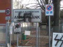 Imbrattata la scuola Anna Frank di Pesaro