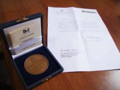 Medaglia del Presidente della Repubblica alla mostra sul Quattrocento a Fermo