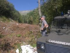 Carabinieri Forestali in località Infernaccio di Montefortino