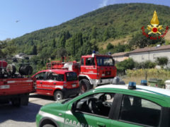Incendio a Colle Ameno