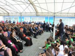 Inaugurazione di una scuola a San Severino Marche