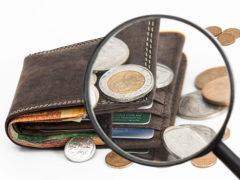 Portafogli, denaro, contanti, monete, banconote, povertà