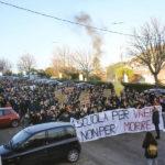 Corteo di protesta degli studenti dell'ITI Montani di Fermo