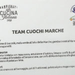 Campionati della Cucina Italiana: piatti proposti dal Team Cuochi Marche