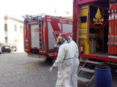 Intervento dei Vigili del Fuoco a Montelupone per possibile radioattività