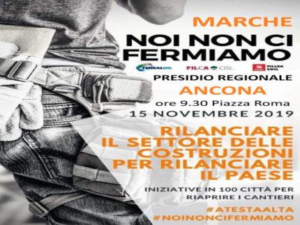 Manifestazione sindacati ad Ancona