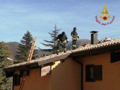 Incendio a Serravalle di Chienti