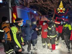 Operazione di soccorso dei Vigili del fuco