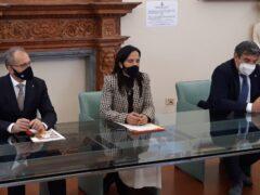 Conferenza stampa per i lavori al Fiume Metauro
