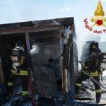 Incendio di due container a Osimo